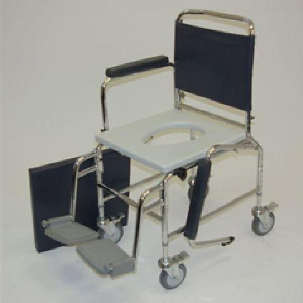 18 inch Standard Deluxe Chrome Plated Steel Commode Chair