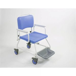 22 inch Seat Width Bariatric Atlantic commode & shower chair with footrests