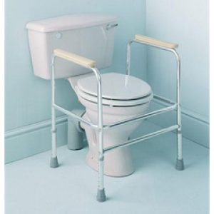 Aluminium Adjustable Height Toilet Surround with Floor Fixings