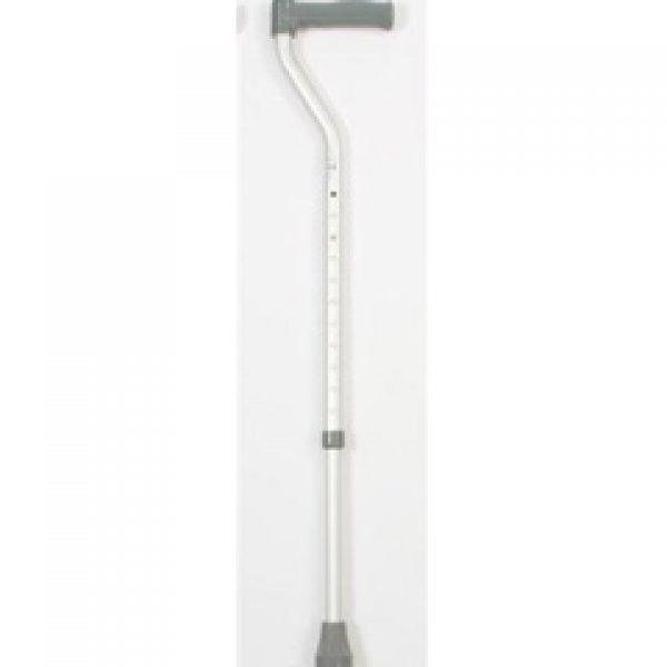 Aluminium Height Adjustable Swan Necked Walking Stick