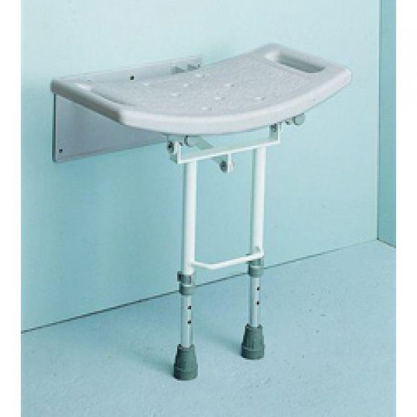 Aluminium Wall Mounted Shower Seat with drop down