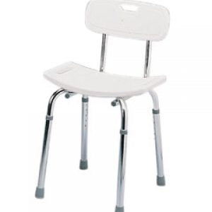 Deluxe Shower Stool with Backrest