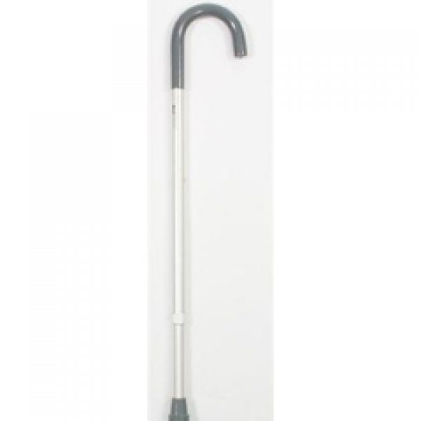 Heavy Duty, Crook Handle, Aluminium Adjustable Height Walking Stick
