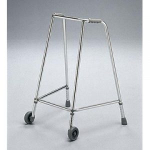 Large Ultra Narrow Wheeled Adjustable Height Walking Aid