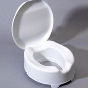 Polypropylene (10cm) Raised Toilet Seat with lid