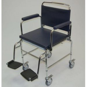 22 inch Heavy Duty Deluxe Chrome Plated Steel Commode Chair