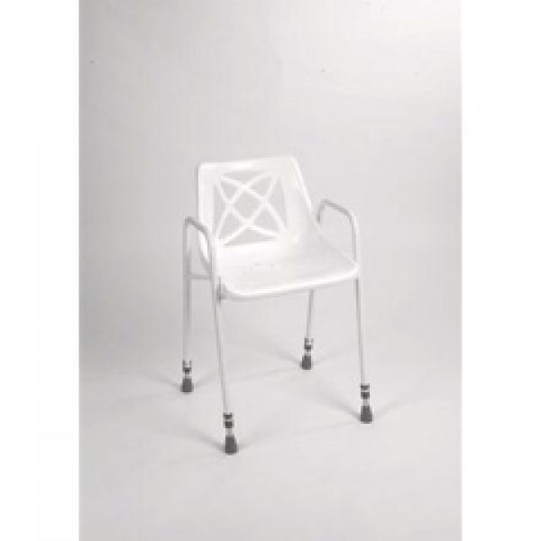 Brilliant Adjustable Height Stationary Shower Chair Evergreenethics Interior Chair Design Evergreenethicsorg