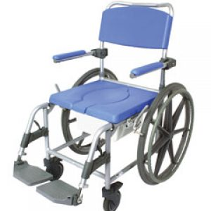 Aluminium self propelling commode & shower chair