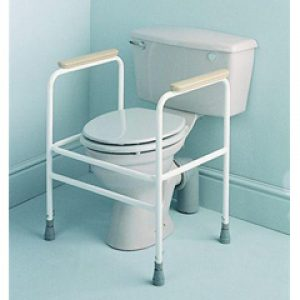 Powder Coated Adjustable Height Toilet Surround with Floor Fixings