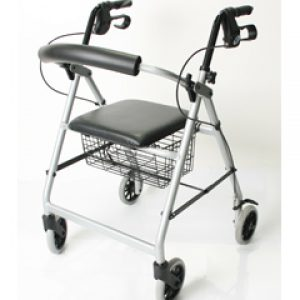 Rollator cw Basket 6 inch Wheels